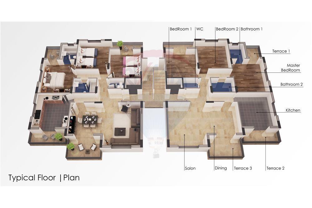شقق سكنية قيدالانشاء للبيع في منطقة النخلة- الكورة